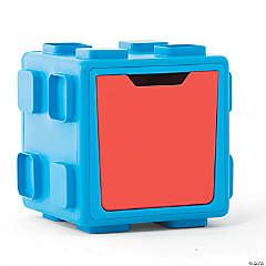 Modular Toy Storage Box: Blue/Red