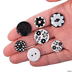Monochromatic Black & White Buttons