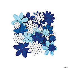60 Monochromatic Blue Flowers