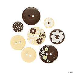 Monochromatic Brown Buttons