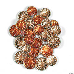 Monochromatic Jewel Brads - Orange