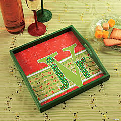 Monogram Christmas Tray Idea