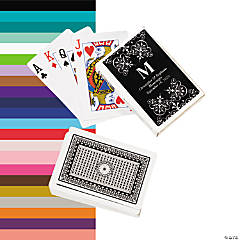 Monogram Wedding Personalized Playing Cards