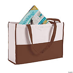 Monogrammed Chocolate Brown Canvas Tote