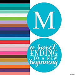 Monogrammed Sweet Ending New Beginning Stickers