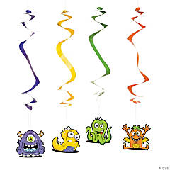 Monster Bash Hanging Swirl Decorations