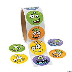 Monster Face Sticker Rolls