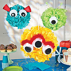 Monster Pom-Pom Decor Idea