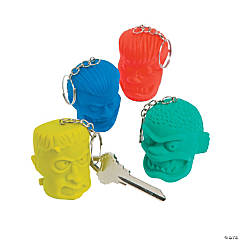 Monster Shrunken Head Key Chains
