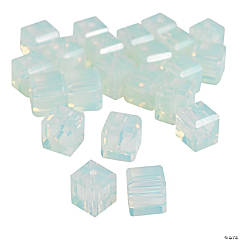 Moonstone Cube Cut Crystal Beads - 8mm