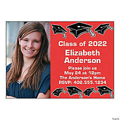 2016 Mortarboard Custom Photo Grad Invitations