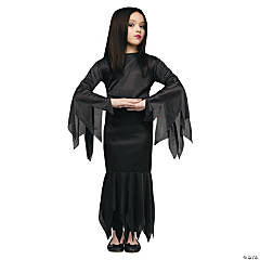 Morticia Costume For Girls