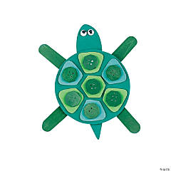 Mosaic Turtle Magnet Craft Kit