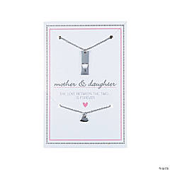 Mother Daughter Necklaces on Card