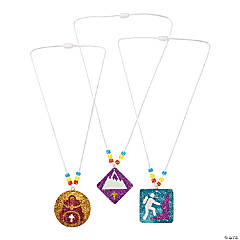 Mountain Rescue Glitter Necklace Craft Kit
