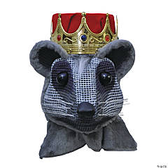 Mouse King Head With Red Crown Mask