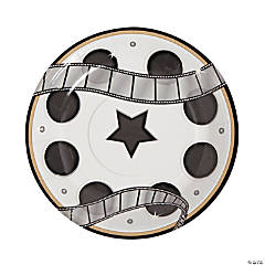 Movie Night Paper Dessert Plates
