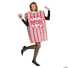 Movie Night Popcorn Costume for Adults