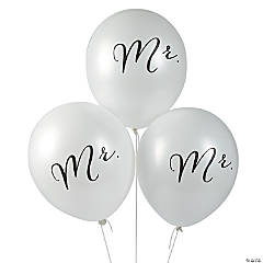 "Mr. 11"" Latex Balloons"