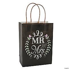 Mr. & Mrs. Chalkboard Wedding Kraft Bags