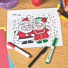 Mr. & Mrs. Claus Free Printable Coloring Page