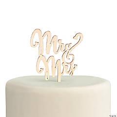 Mr. & Mrs. Wooden Cake Topper