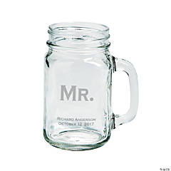 Mr. Mason Jar Personalized Glass Mug