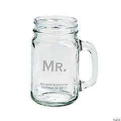 Mr. Mason Jar Personalized Glass Mug