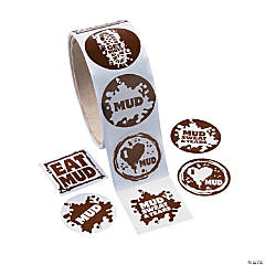 Mud Run Roll of Stickers