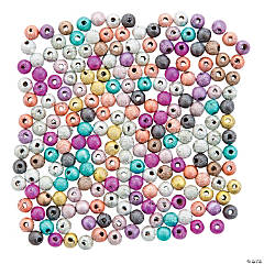 Multicolor Glitter Round Beads - 4mm