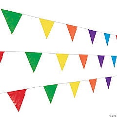 Multicolor Plastic Pennant Banner