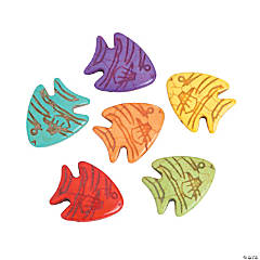 Multicolor Stone Fish Beads - 26mm