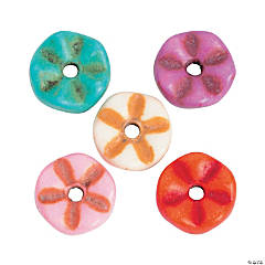Multicolor Stone Flower Beads - 8mm