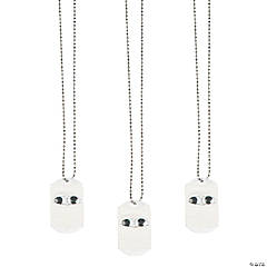 Mummy-Wrapped Dog Tag Necklaces