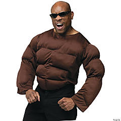 Muscle Chest African American Adult Men's Costume