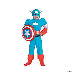 Muscle Deluxe Captain America Costume for Boys