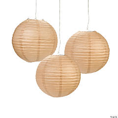 Mushroom Brown Hanging Paper Lanterns