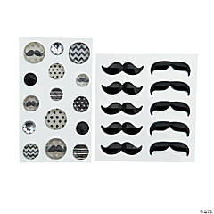 Mustache Adhesive Jewels
