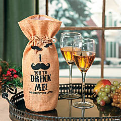 Mustache Bottle Bag