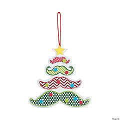 Mustache Christmas Tree Ornament Craft Kit