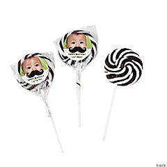 Mustache Custom Photo Swirl Pops