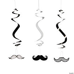 Mustache Hanging Swirls