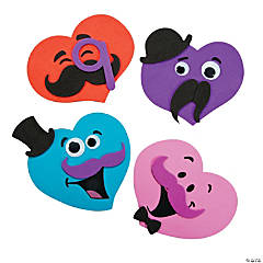 Mustache Hearts Magnet Craft Kit