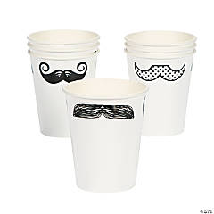Mustache Party Paper Cups