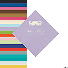Mustache Personalized Napkins