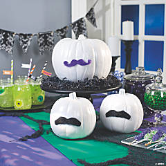 Mustache Pumpkins Idea
