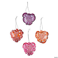 Mylar Self-Inflating Inspirational Valentine Heart Balloons Ornaments