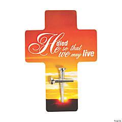 Nail Cross Pin on Card Handouts