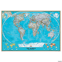 National Geographic World Classic Wall Map, Mural