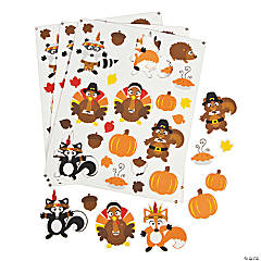 Native American & Pilgrim Self-Adhesive Sticker Shapes